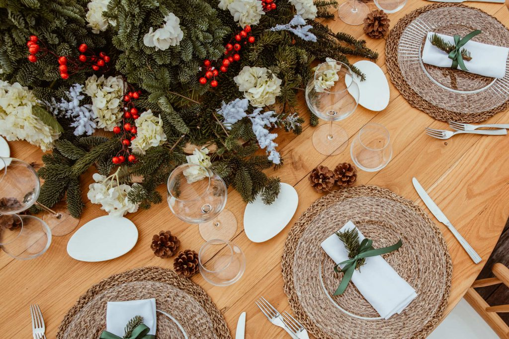 Matrimonio d'inverno al mamamare - La mise en place